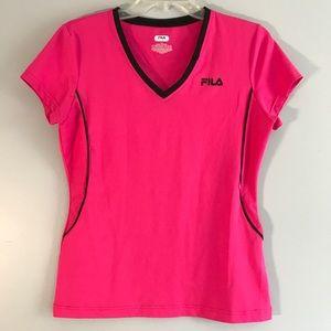 FILA Hot Pink Sport Shirt Short Sleeve M